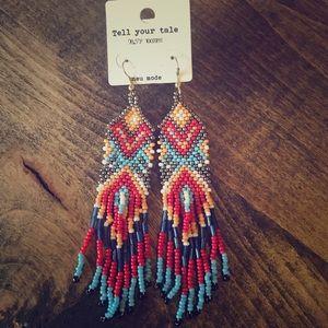 BOHO Beaded Dangle Earrings ❤️